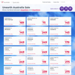Virgin Australia Unearth Aus Sale: $75 SYD <> Ballina, $89 Newc <> Bris, Syd <> Gcoast $95, Cbr <> Syd $99 and More (Sep to Dec)