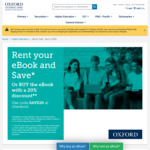 Rent Your Textbook and Save up to 50% @ Oxford University Press