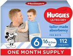 Huggies Ultra Dry Size 6 (16kg+) Nappies 112 Pack - $48.53 + Delivery / $41.25 S&S @ Amazon
