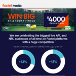 """Win a Samsung 50"""" TV & Sonos Bundle Worth Over $1,700 or Other Prizes from Foxtel Media"""