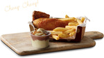 Quarter Chicken Lunch + Chips & Gravy Mash $5 ($5.50 QLD) @ Red Rooster (Till 4PM)