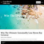 Win a Byron Bay Holiday Package for 2 Worth $3,250 from Crystalbrook Collection
