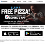 Free Large Pizza by Downloading The App @ Domino's