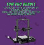 CR-6 SE 3D Printer + 5x 1KG 3DPO PLA + Creality Medium Enclosure Tent $743.76 (Was $929.70) @ 3DPO