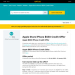 Apple Store iPhone $550 Credit Offer with Optus $65/Month 24-Month Sim-Only Plan (New/Recontract Customers) + Free Optus Sport