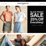 25% off Everything (Spend $50 for Free Express Shipping) @ French Connection