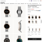 Fossil Gen 5 Julianna HR Stainless Steel Mesh - $224.25 (Was $299 RRP $499) Delivered @ Fossil