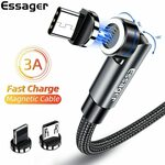 Essager 540 Nylon Braided Magnetic Rotatable USB-C Cable 1m US$1.41 (~A$1.84) Delivered @ ESSAGER Official Store AliExpress