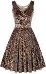 Velvet Leopard Print Dress US$16.94 / ~A$22.1 (Delivery Included) ~ Free Shipping over US$79 @ Grace Karin