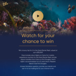 Win a Luxury Trip for 2 to The Great Barrier Reef, Valued at up to $15,000 from Dine