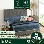 Zinus Velvet Bed: Q $228.65 D $220.15 (eBay Plus Q $223.27, D $214.97) + Free Delivery Most Metro @ Zinus eBay