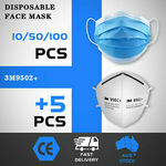 50pk Disposable 3 Layers Face Mask $5.01, 100pk Disposable 3 Layers $8.49 Delivered @ Outbax Camping via eBay