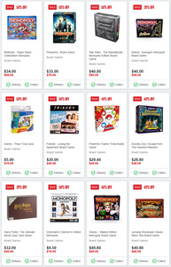Board Games 50% off Sale + Delivery ($0 C&C) @ EB Games / Zing Pop Culture