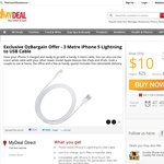 iPhone 5 Lightning to USB 3 Metre Cable - $10 - Free Shipping - mydeal.com.au