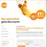 Lumo Energy - Switch & Save up to 17% off Your Monthly Energy Bill [VIC]