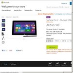 Microsoft Surface Pro 2 PC Tablet, 10% off for Students, Starts at $917