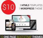 10 One-Page Bootstrap Themes from DX Themes - Only $10!
