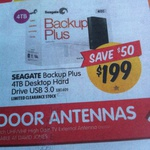 """Seagate Backup Plus 4TB 3.5"""" USB 3.0 HDD $199 (Save $50) @ DSE and DJ's"""