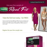 Free Sample of Women's Depend 'Real Fit' Underwear