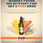 BOGOF Beer. Buy a Craft Beer, Get Warney's New Creation '99 Not Out'. Fri 23 May Only @ BWS