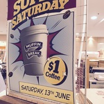 $1 Small Coffee on Sat, 13 June @ Muffin Break (NSW and ACT Only)