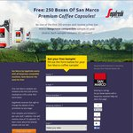 Free San Marco by Segafredo Nespresso Compatible Capsule Samples. Limited to The First 250