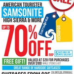 [MEL] Samsonite/American Tourister Warehouse Sale: Up to 70% off - Suitcases from $35 (2-6 Dec)