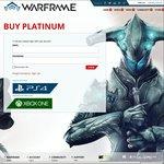 [PC] 50% off Platinum for Warframe eg $112 for 4300