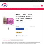 Impulse Pk 2x75ml Perfume Body Spray Romantic Spark in Pink Bag for $5.99 Free Shipping @ Day to Day Deals