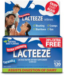 Lacteeze Extra Strength 120 Tablet Pack - on Sale for $20.99 at Chemist Warehouse