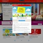 Hotels.com Easter Discounts $15 off $200, $25 off $300, $50 off $500, 8% off