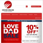 10% off Everything + Free shipping at Knives-Online.com.au (Global, Leatherman, Swiss Army, Victorinox etc)