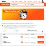 Jetstar Friday Frenzy Sale Melb to Launceston $39 Melb to Singapore $159