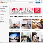 20% off Tech - Selected Retailers (Futu Online, PC Byte, Shopping Square, Teds, Wireless1 etc) @ eBay
