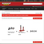 SCA 1400kg Hydraulic Trolley Jack + SCA 1200kg Car Stands COMBO DEAL $49.94 @ SCA C&C