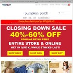Pumpkin Patch Closing down Sale 40-60% off Instore and Online