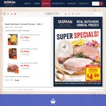 [VIC only] Tasman Butchers $5 voucher.Minimum $50 Spend