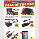 MSY Sales Wed-Sat, TP-Link 1200MB Powerline Adapter with AC Passthru $64, Antec VP700 PSU $59, Wi-Fi AC1900 PCIe NIC $44
