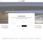20% OFF SALE @ 4x4 Hub - 3 Days Only