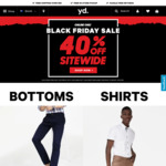 40% off Sitewide @ yd. Black Friday Sale (Free Shipping on Orders over $85)