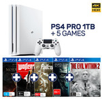 PlayStation 4 Pro 1TB + 5 Games $454, Xbox One S 500GB + 3 or 4 Games $256, Xbox One X 1TB + 2 Games $589 Posted @ EB Games eBay