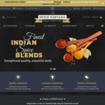 Free Spice Mix Pack (Requires Facebook Like or Share), Sitewide Sale & Free Shipping on Most Spices at Spice Nirvana