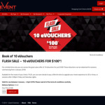 Event Cinemas: 10 eVouchers for $100 (Redeemable January 4 - April 4, 2018)