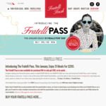 Fratelli Pass - One Pizza/Pasta/Salad Per Day in January 2018 for $200 + ~$7 Shipping @ Fratelli Fresh (Dine-In only)