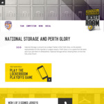 Win a Signed Perth Glory Jersey Worth $500 from National Storage