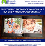 Photobooks - Buy One Get One Free (from $29.95) + Shipping from $17.95 @ Click on Print