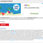 500 FlyBuys Points with $50 Spend or 1,000 FlyBuys Points with $100 Spend on eBay