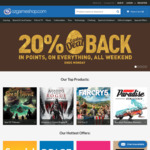OzGameShop: 20% Rebate (in Points) on Purchases over Easter