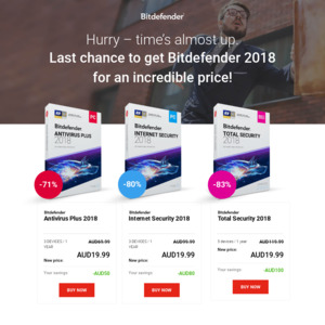Bitdefender Antivirus Plus (3 Devices) / Internet Security