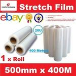 Hand Stretch Wrap Film Pallet Wrap Roll 500mm X 400m Clear $10.95 (Free Pickup NSW or + Shipping) @ eBay Lindcopackaging